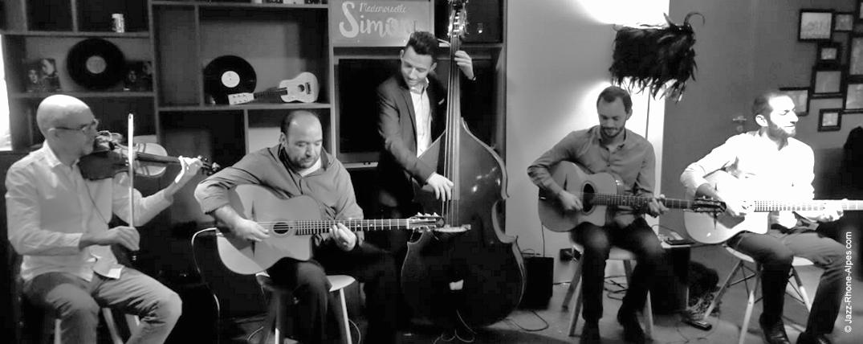Quintet de jazz manouche concerts évènements privés et professionnels